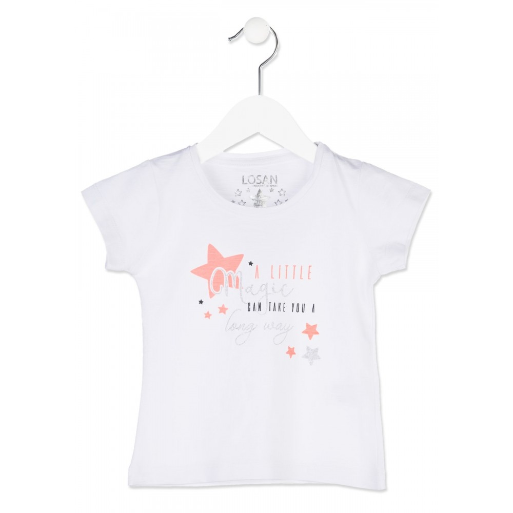 Camiseta Losan Kids niña infantil Magic long way manga corta