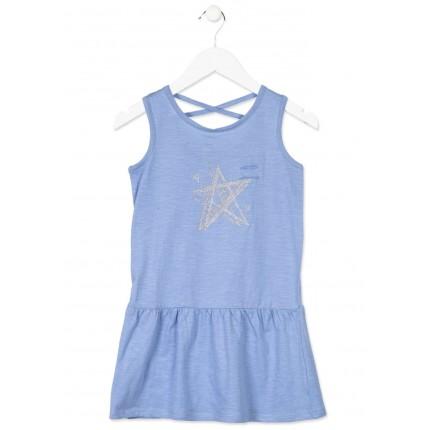 Vestido Losan niña junior Star tirantes bolsillo