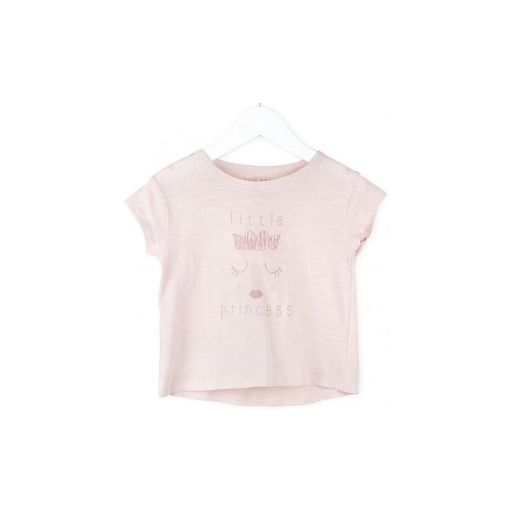 Camiseta infantil Losan niña Little Princess manga corta