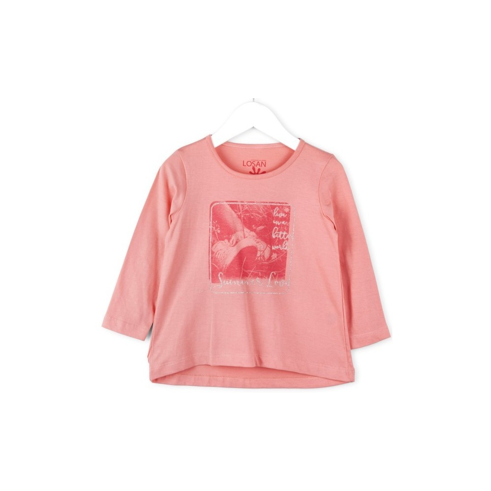 Camiseta infantil Losan Summer niña manga larga