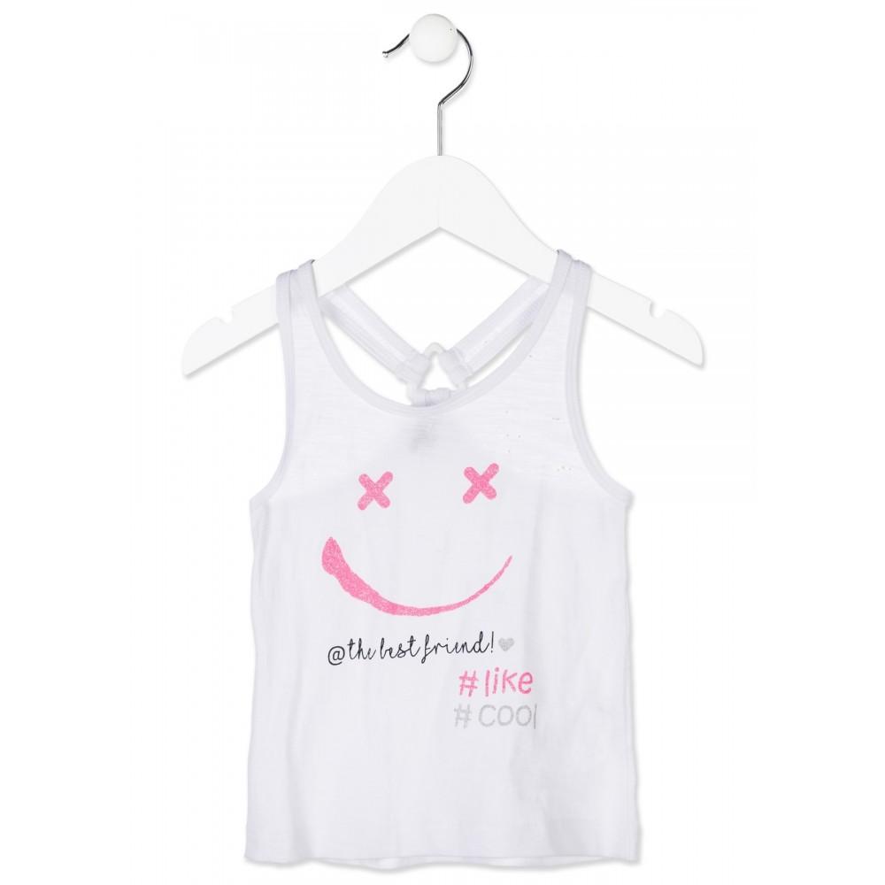 Camiseta Losan Kids niña infantil The best friend tirantes