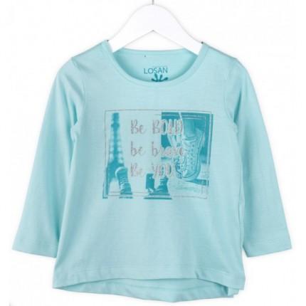Camiseta infantil Losan Paris niña manga larga