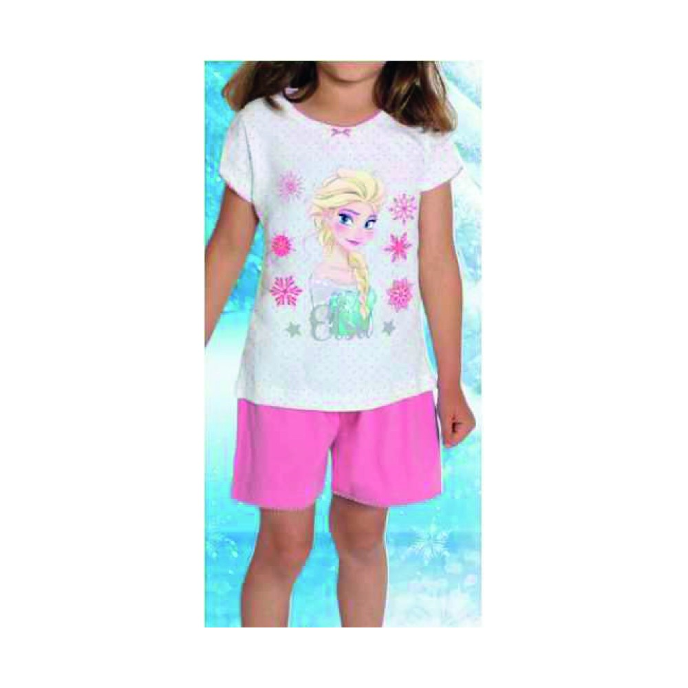 Pijama Frozen niña Elsa manga corta