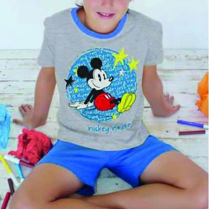 Pijama Mickey Star niño Disney manga corta