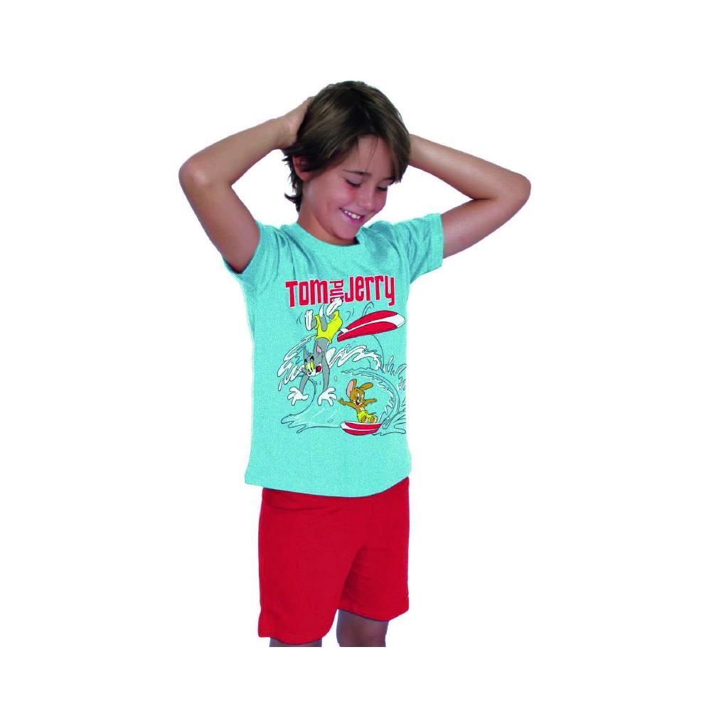Pijama Tom y Jerry Warner niño manga corta