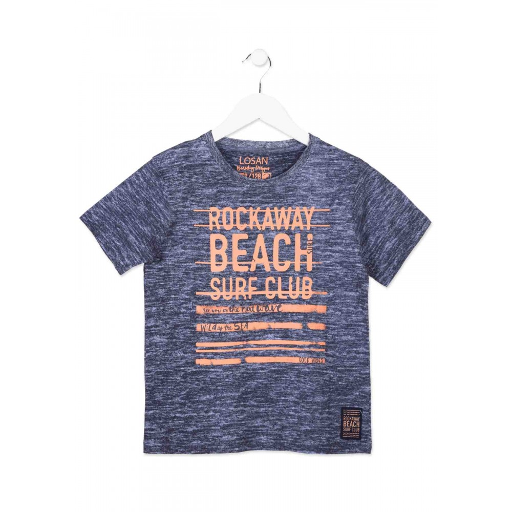 Camiseta Losan niño junior Beach surf manga corta