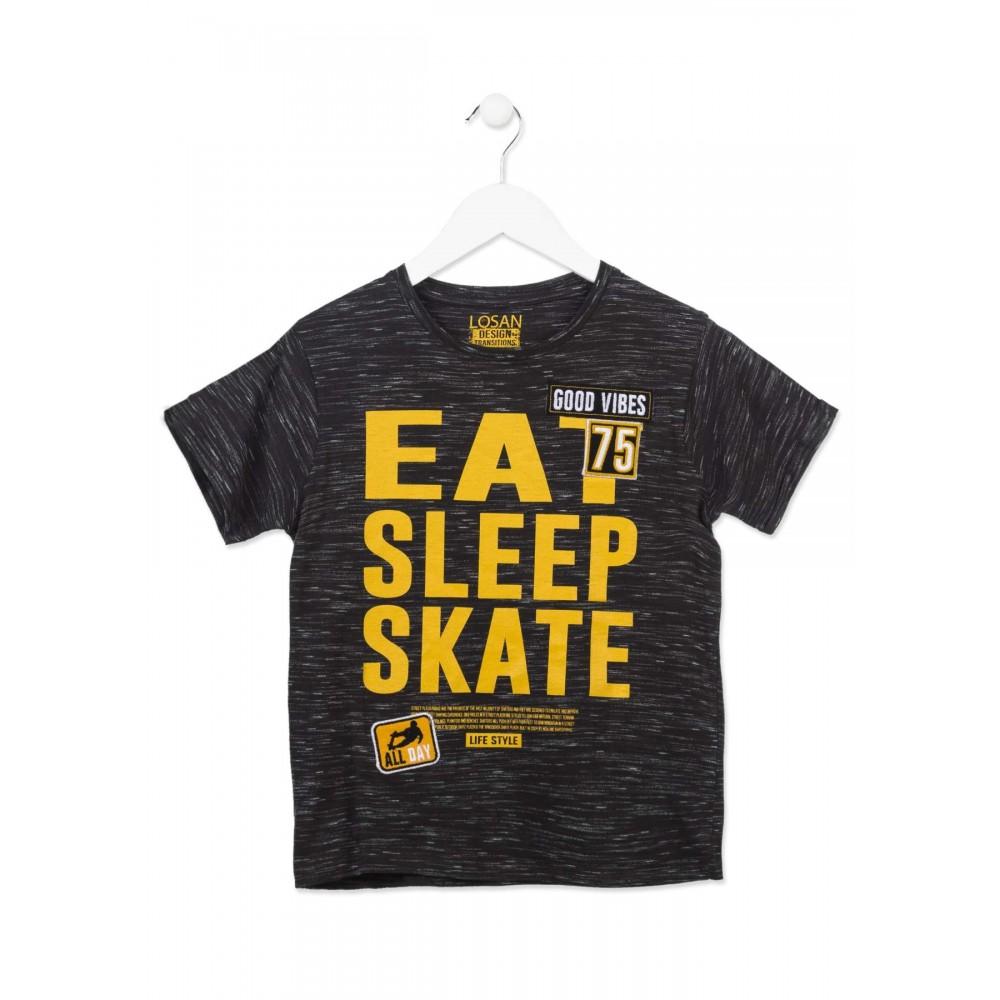 Camiseta Losan niño junior Skate manga corta