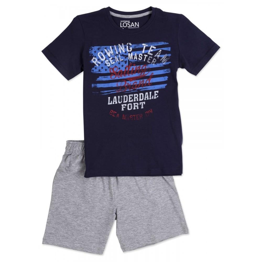 Pijama Losan niño junior 2658X manga corta