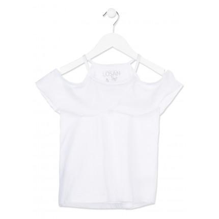 Camiseta Losan niña junior tirantes hombros al aire