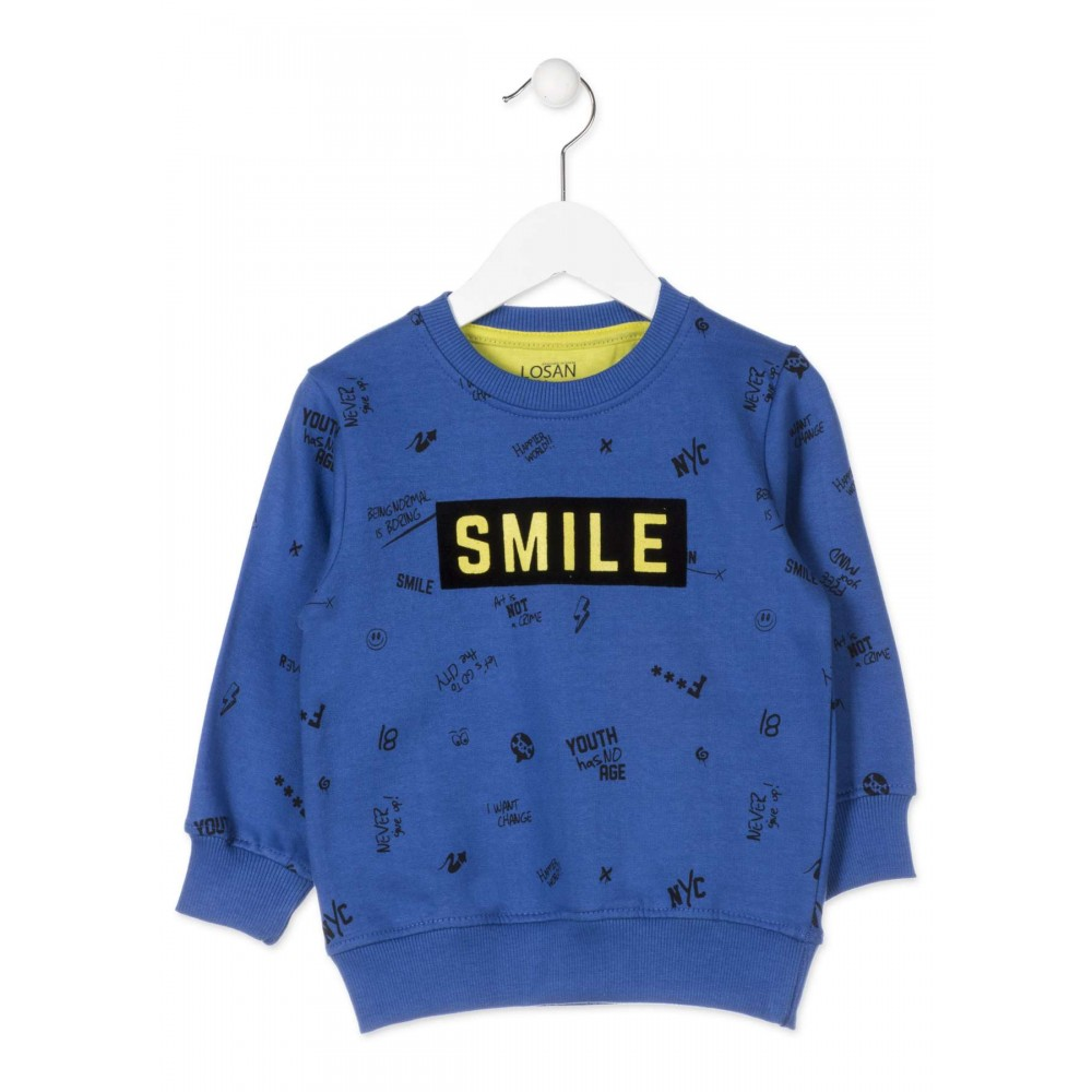 Sudadera Losan Kids niño infantil Smile puño
