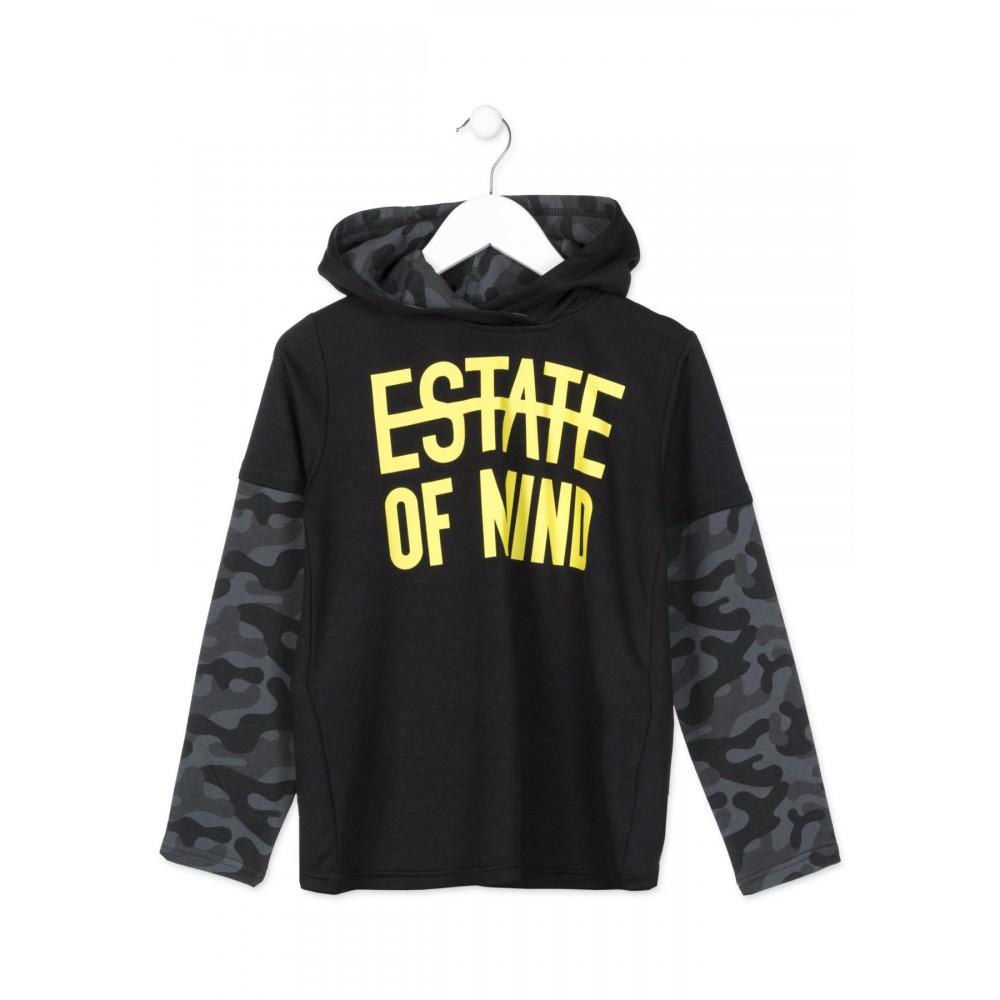 Camiseta Losan niño junior Estate of mind capucha manga larga
