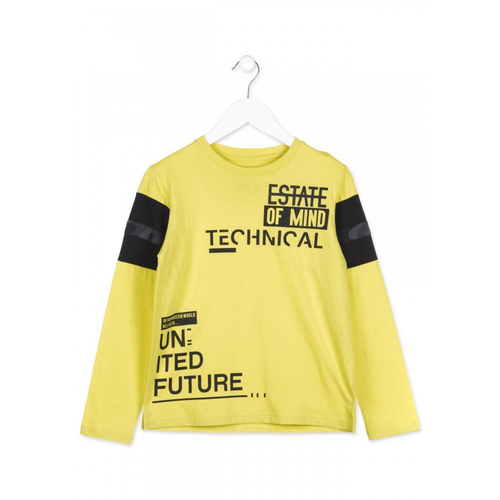 Camiseta Losan niño junior Estate of mind Techical manga larga