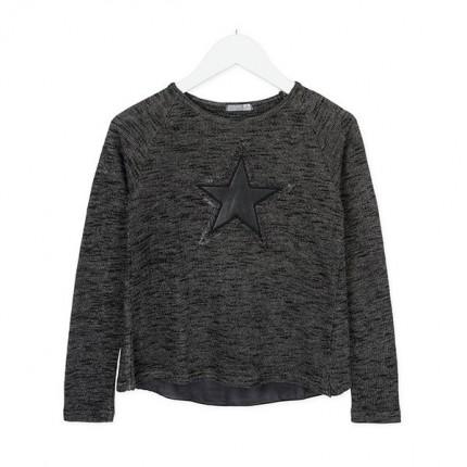 Camiseta Losan niña junior Star abierta espalda manga larga