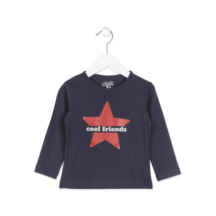 Camiseta Losan Kids niña infantil Cool friends manga larga