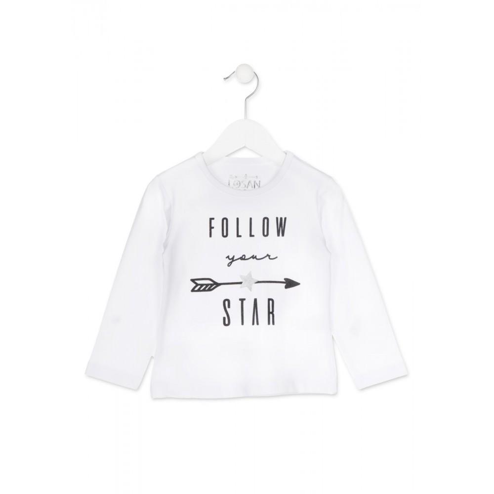 Camiseta Losan Kids niña infantil Follow your Star manga larga