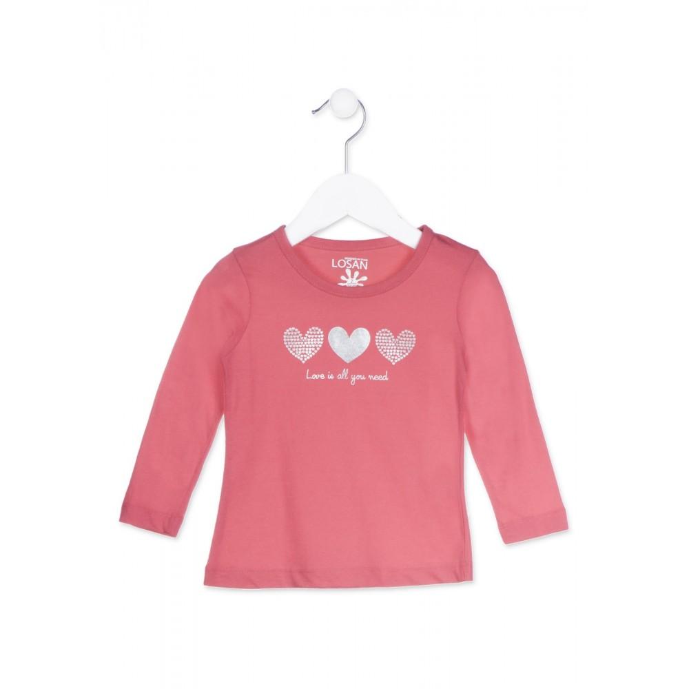 Camiseta Losan Kids niña infantil Love is all you need manga larga