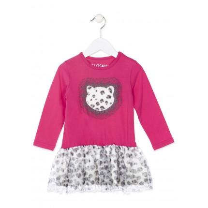 Vestido Losan kids niña infantil falda tull pimetada