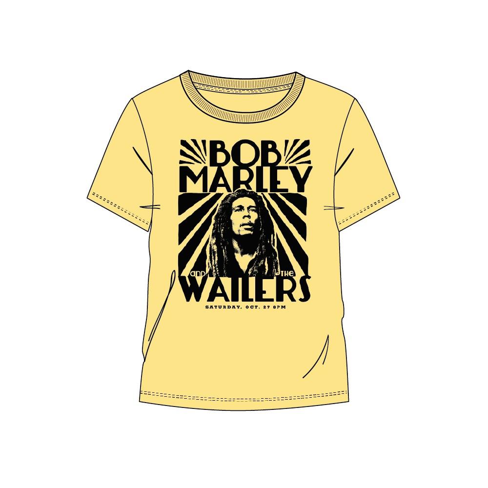 Camiseta Bob Marley and The Watlers adulto manga corta
