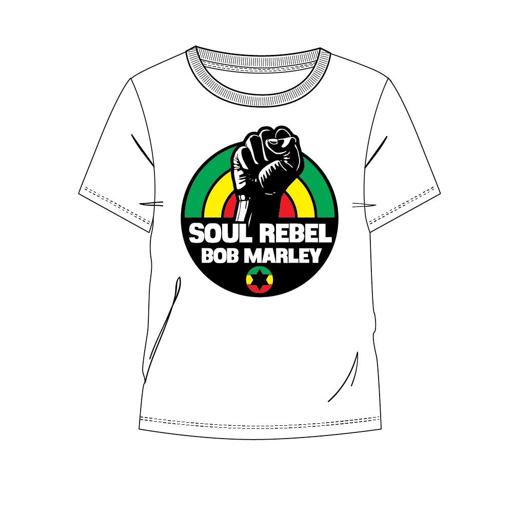 Camiseta Bob Marley Soul Rebel adulto manga corta