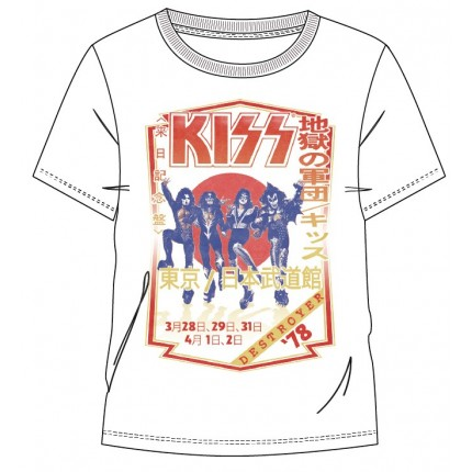 Camiseta Kiss Destroyer 78 adulto manga corta