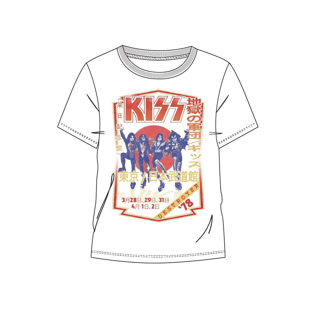 Camiseta Kiss Destroyer 78 adulto manga corta