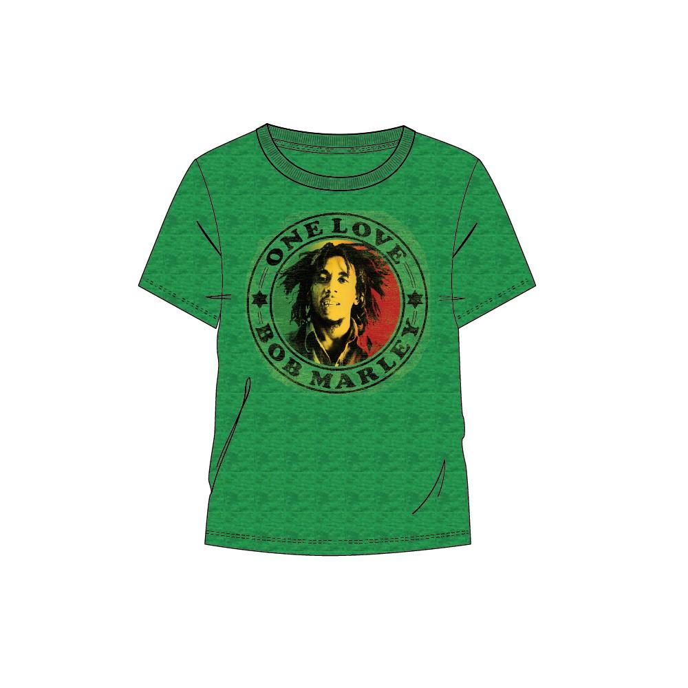 Camiseta Bob Marley One Love adulto manga corta