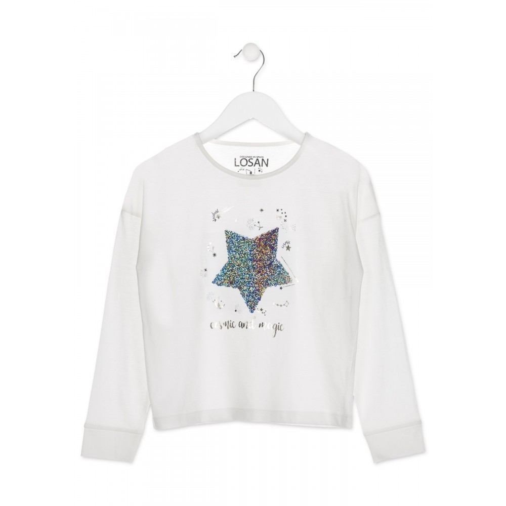 Camiseta Losan niña junior Cosmic and magic manga larga