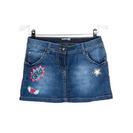 Falda Denim Losan niña junior Funny Patch mini