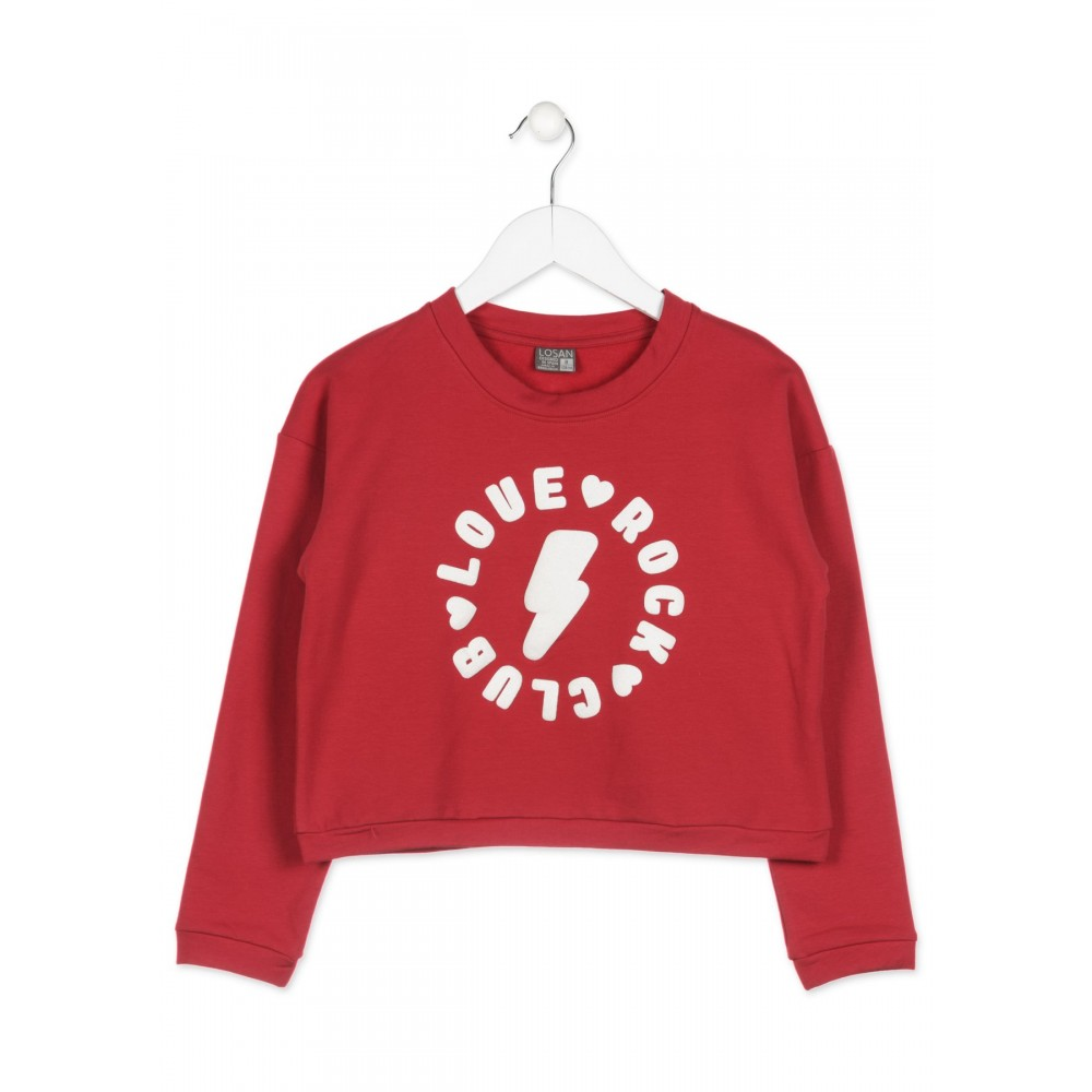 Sudadera Losan niña junior Club love rock corta