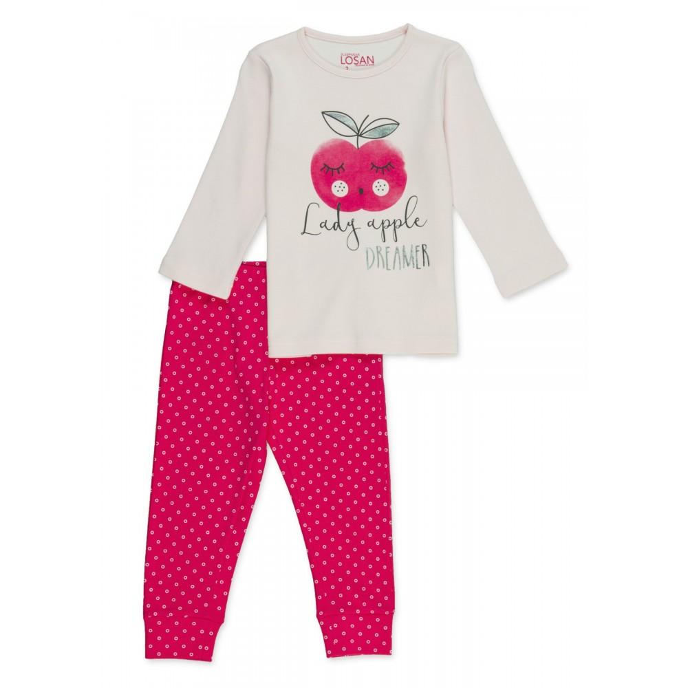 Pijama Losan Kids niña infantil Lady apple manga larga
