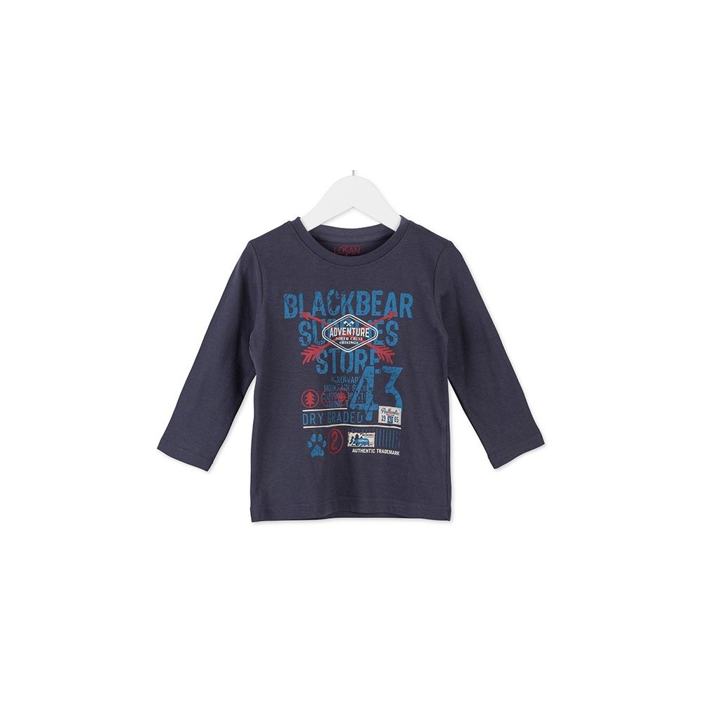 Camiseta infantil Losan niño kids Adventure manga larga