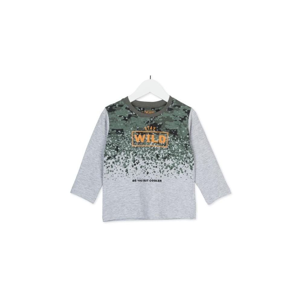 Camiseta infantil Losan kids niño Wild & Free manga larga