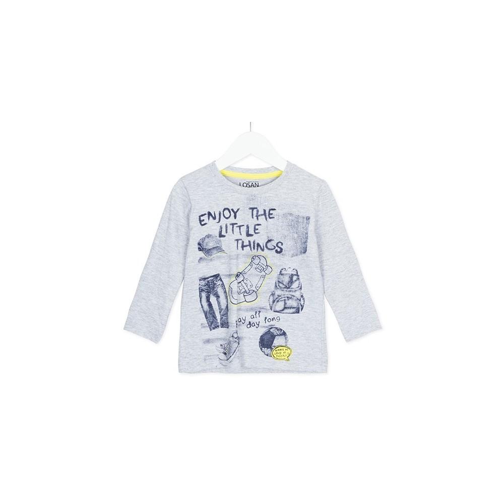 Camiseta infantil Losan niño kids Enjoy the little things manga larga