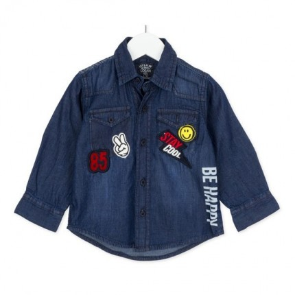 Camisa infantil Losan Kids niño Patches manga larga