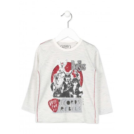 Camiseta Losan Kids niño infantil The Beasts manga larga