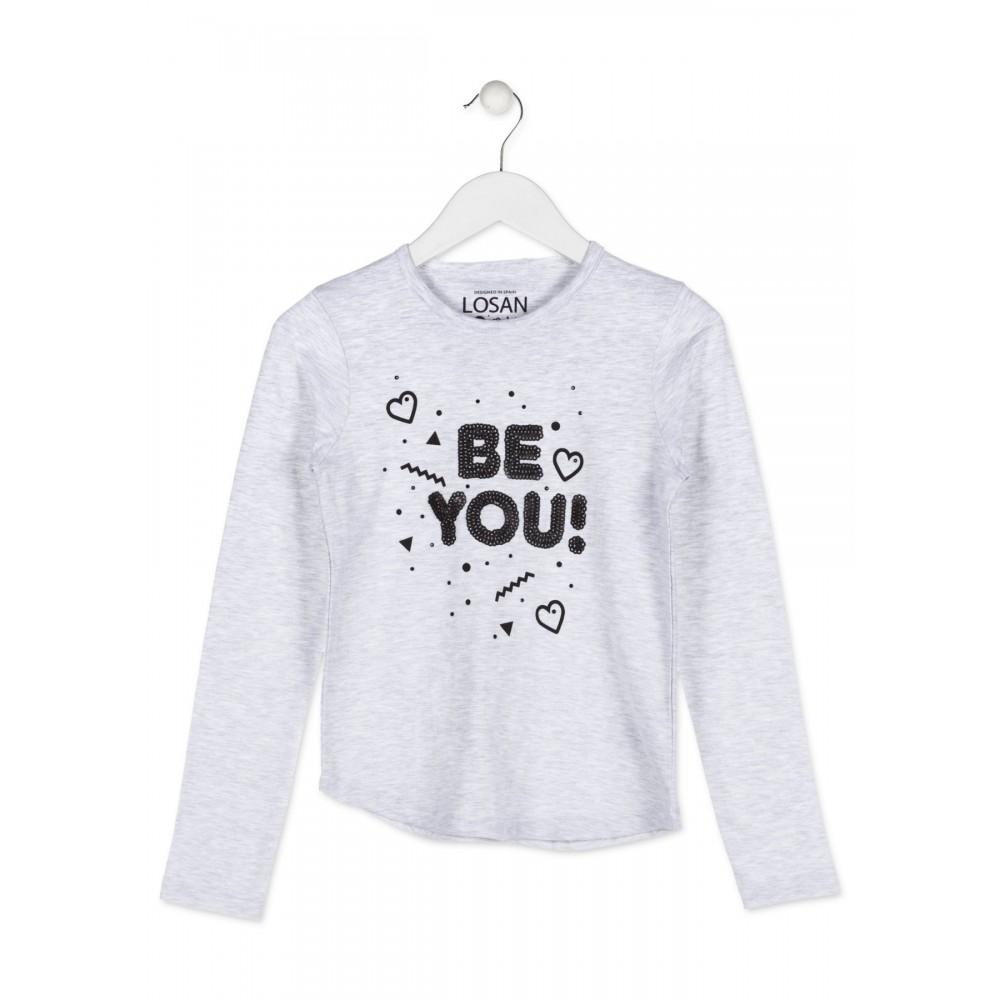 Camiseta Losan niña junior Be You manga larga