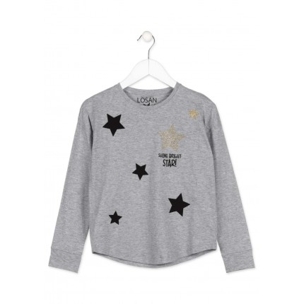 Camiseta Losan niña junior Shine bright Star! manga larga