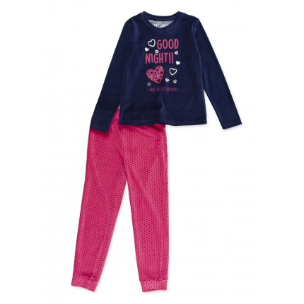 Pijama Losan niña junior Good Night and sweet dreams manga larga