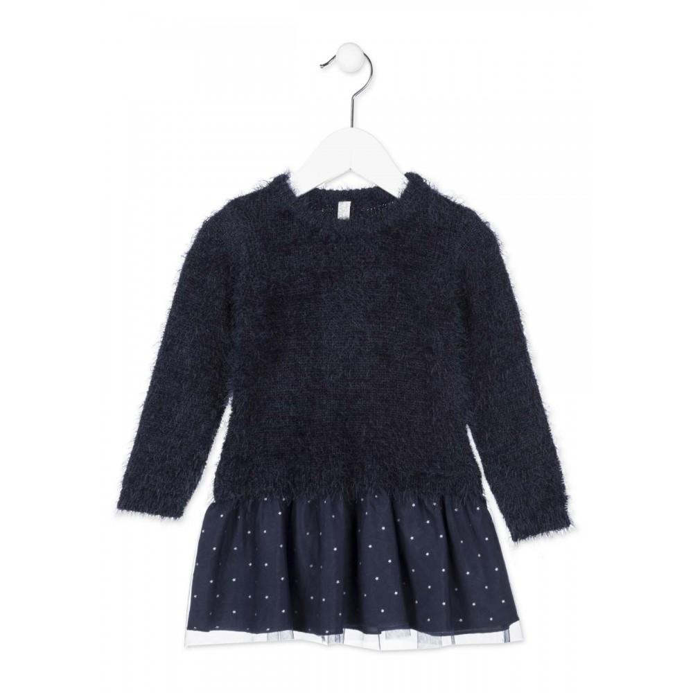 Vestido Losan Chic Collection Kids niña infantil Corazón tull