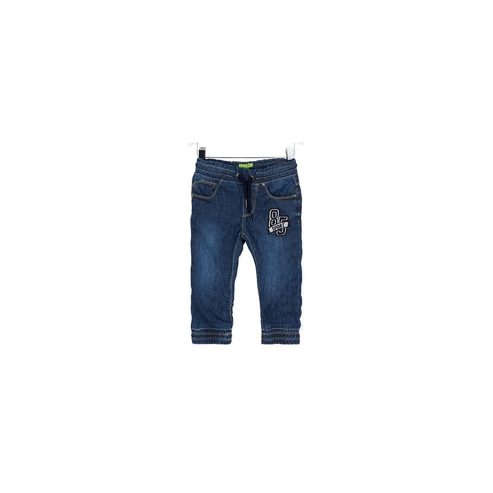 Pantalón Denim infantil Losan Patches cordón elástico