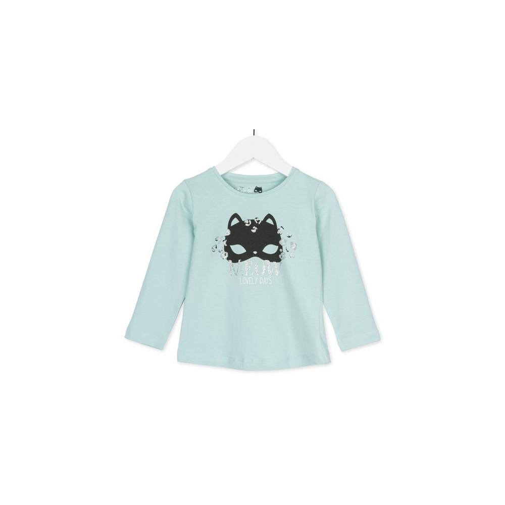 Camiseta infantil Losan Kids niña Wild Meow manga larga