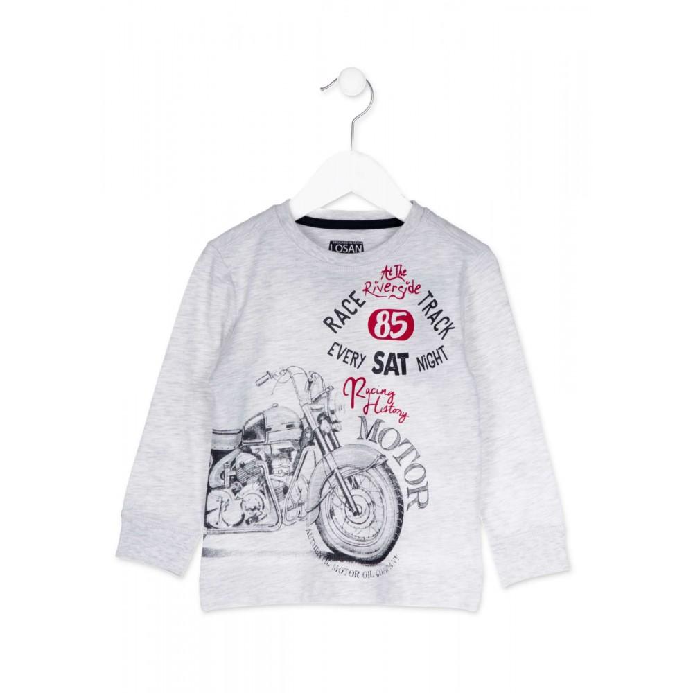 Camiseta Losan Kids niño infantil Racing History Motor puños