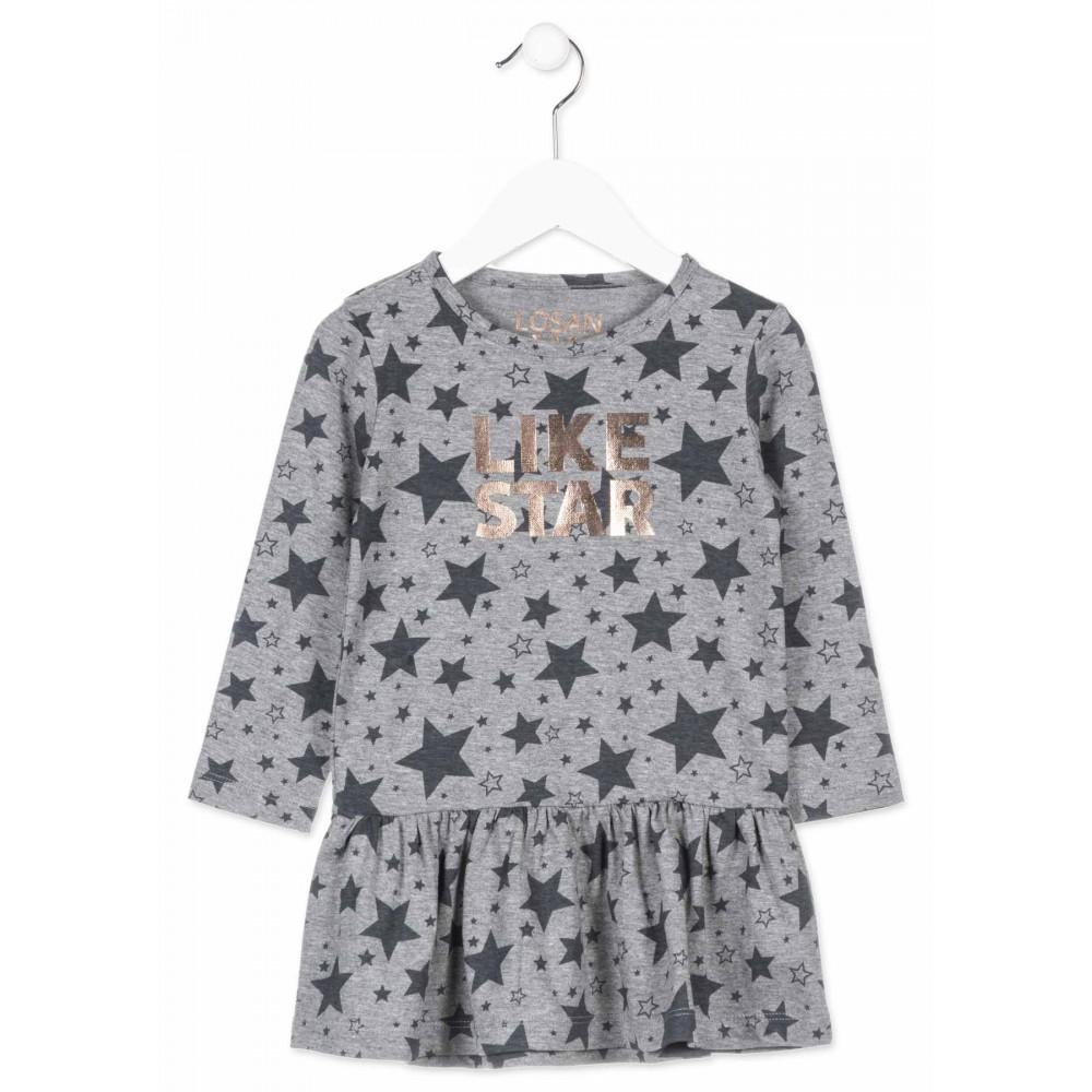 Vestido Losan kids niña infantil Like Star manga larga