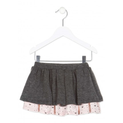 Falda Losan Kids niña infantil Love you volantes