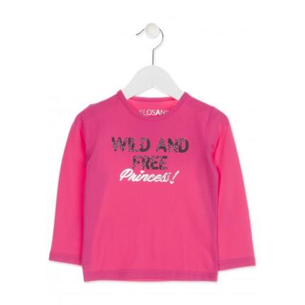 Camiseta Losan Kids niña infantil Wild and free Princess manga larga