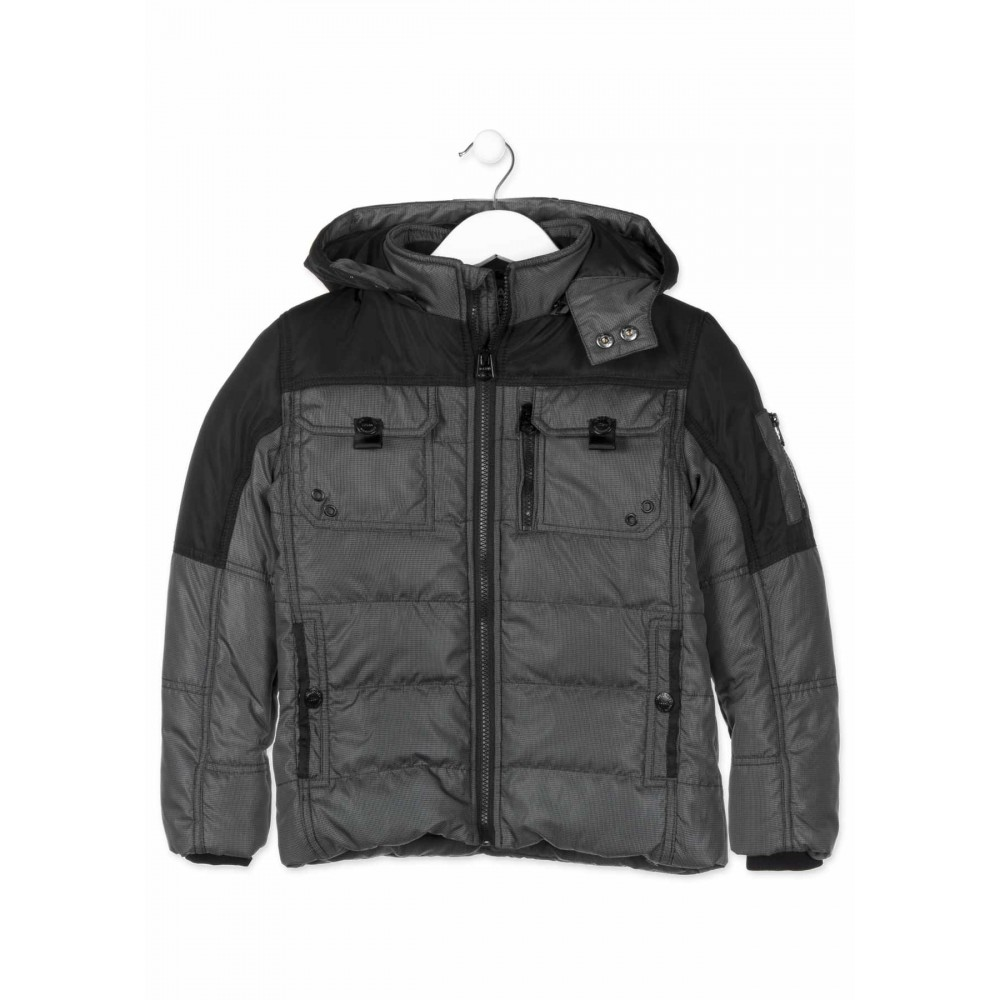 Parka Losan niño junior only black rock capucha desmontable