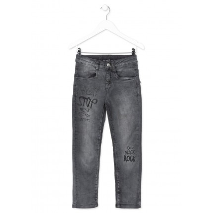 Pantalón Denim Losan niño junior only black rock slim