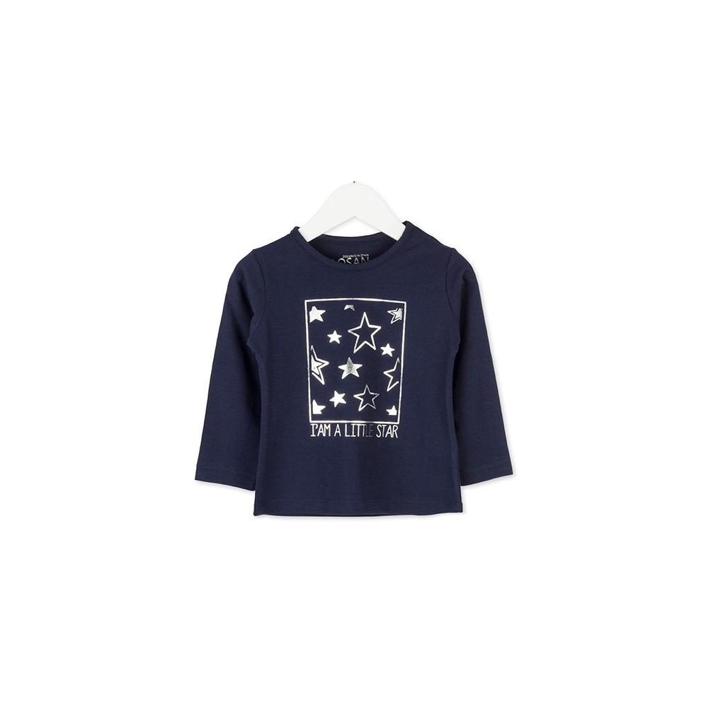 Camiseta infantil Losan niña Little Star manga larga