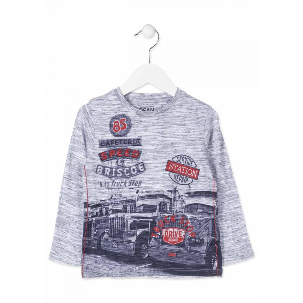 Camiseta Losan Kids niño infantil Auto Truck Stop manga larga
