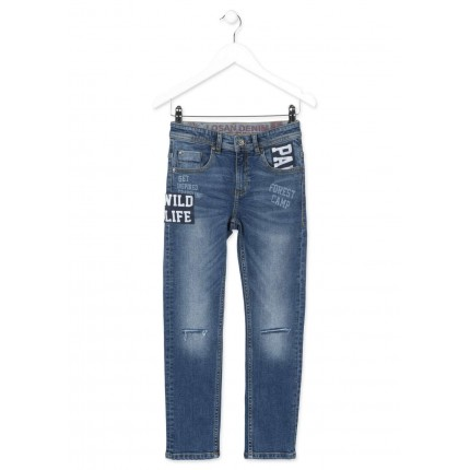 Pantalón Denim Losan niño junior Wild Life Slim